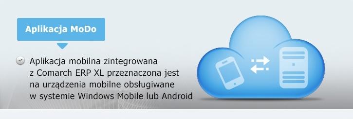 Baner aplikacji na urządzenia mobilne Comarch MoDo