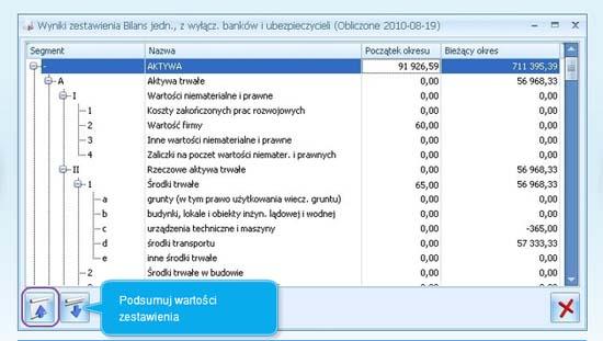 Zestawienie Bilansu w Comarch ERP Optima