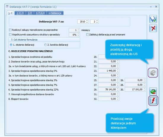 Jak wypełnić formularz deklaracji VAT 7 w programie Comarch ERP Optima