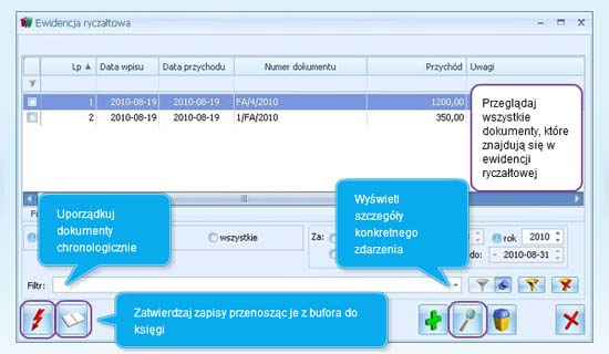 Jak wypełnić ewidencje ryczałtu w Comarch ERP Optima