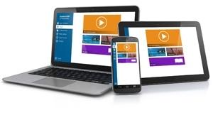 Widok z programu e pracownik na komputerze, tablecie i smartfonie
