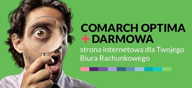 Baner Comarch Optima plus darmowa strona internetowa dla Twojego Biura Rachunkowego