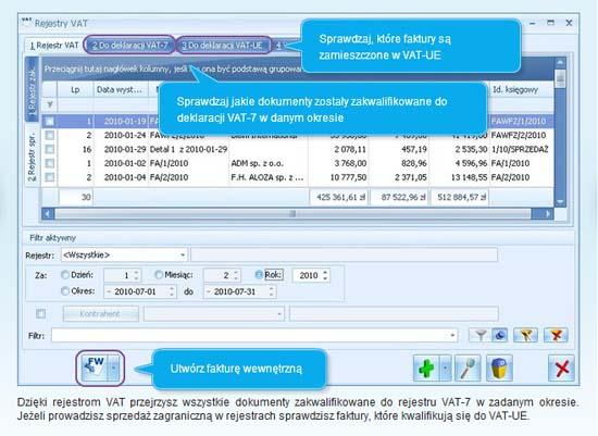Jakie informacje znajdziemy w rejestrze VAT programu dla firm Comarch ERP Optima