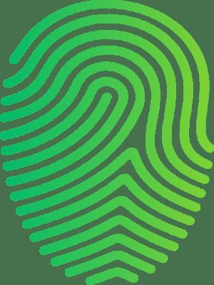 ikona bezpieczeństwo it linie papilarne