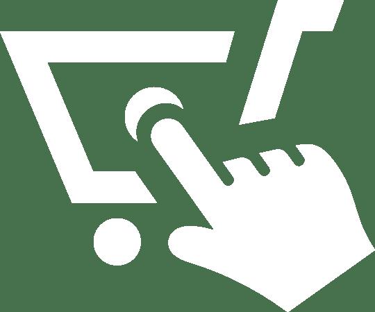 Biała ikona sektory e commerce