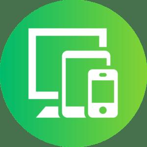 Ikona telefon, tablet, komputer obsługa informatyczna firm instalacja nowych urządzeń