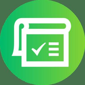 ikona terminarza tworzenie raportów i zestawień w systemie ERP