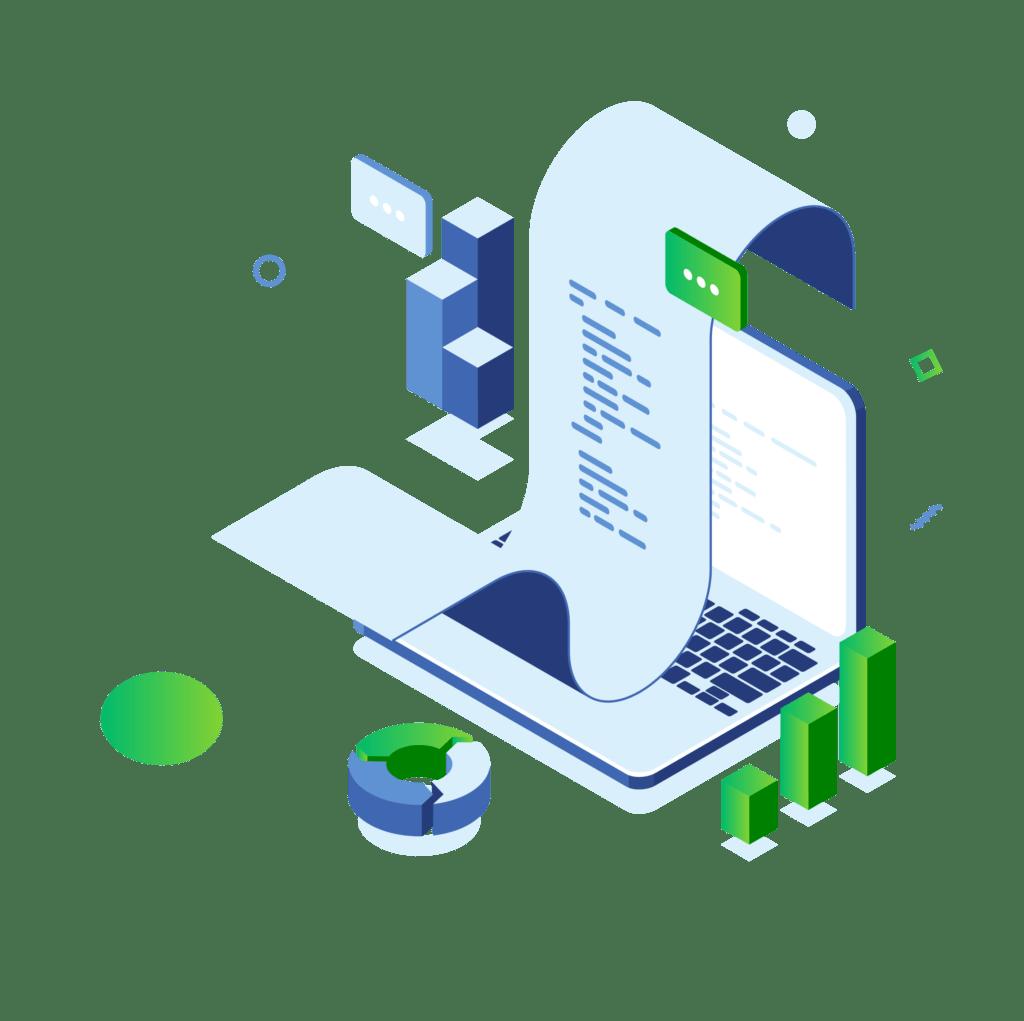 laptop paragon i wykresy oprogramowanie handlowe