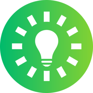 Ikona żarówka obsługa informatyczna firm rozwiązywanie problemów