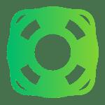 ikona koło ratunkowe wsparcie e commerce