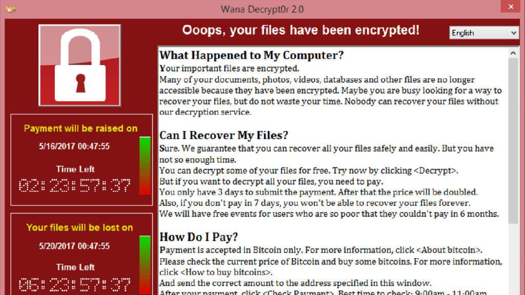 Screen z wirusa WannaCry jak zabezpieczyć się przed ransomware