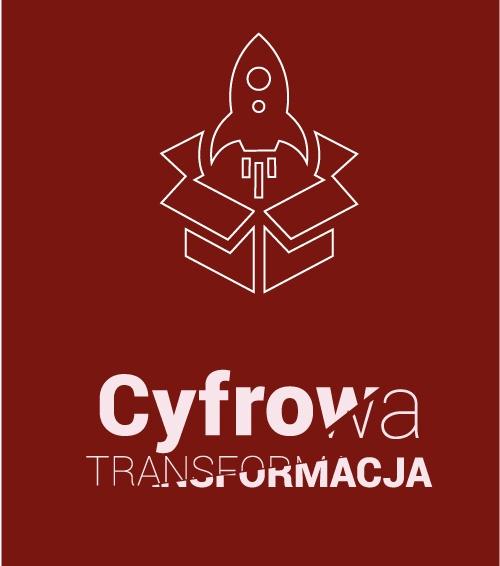 ilustracja rakieta wylatująca z kartonu symbolizująca rozwój firmy cyfrowa transformacja
